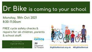 Dr Bike Returns to Hoxton Garden for FREE Cycle Safety Checks! @ Hoxton Garden Primary School